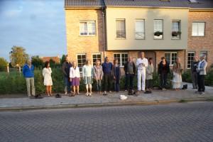 Sungazing in Vorselaar, Belgie